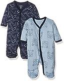 Care - Pyjama - Bébé garçon - Lot de 2, Multicolore (Royal Blue 750), 0-3 mois (Taille fabricant 50)