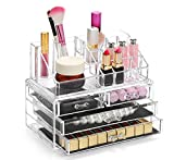 Display4top Caja acrílica Estante de maquillajes Maquillaje Cosméticos Joyería Organizador (4...