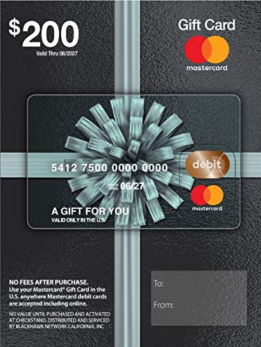 $200 Mastercard Gift Card (plus $6.95 Purchase Fee)