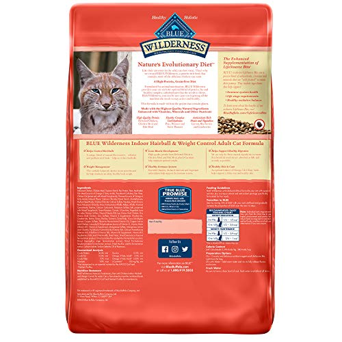 Product Image 2: Blue Buffalo Wilderness High Protein, Natural Adult Indoor Hairball & Weight Control Dry Cat Food, Chicken 11-lb