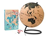 Tripvea- Globe terrestre en liège + Punaises avec...