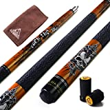 CUESOUL Rockin Series 57' 21oz Maple Pool Cue Stick Set with Joint Protector/Shaft Protector and Cue Towel G406