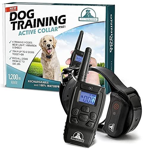 Pet Union PT0Z1 Premium Dog Training Shock Collar,...