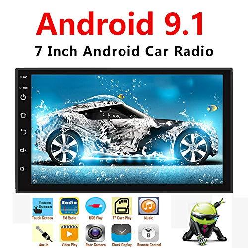 Binize Android 9.1 7 Inch HD Quad-Core 2 Din Car Stereo Radio Multimedia Player NO-DVD GPS Navigation in Dash AutoRadio Bluetooth/USB/WiFi (2G RAM+32G ROM)