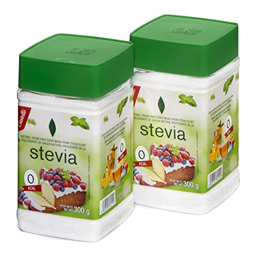 Castelló Since 1907 Edulcorante Stevia + Eritritol 1:3 - Paquete de 2 x 300 gr - Total: 600 gr