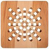 Creative Home Dessous de Plat en Bois Carré | 19,5 x 19,5 x 1,5...