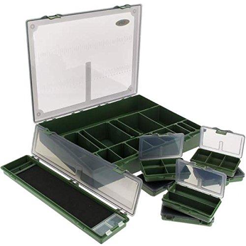 NGT Tackle Sistema 7+ 1L tacle Box, Verde, L