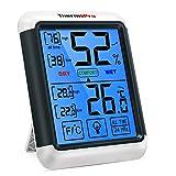 ThermoPro TP55 Thermomètre Numérique Hygromètre Intérieur Indicateur D'humidité avec Grand Écran Tactile et Rétroéclairage Jauges de Température et D'humidité