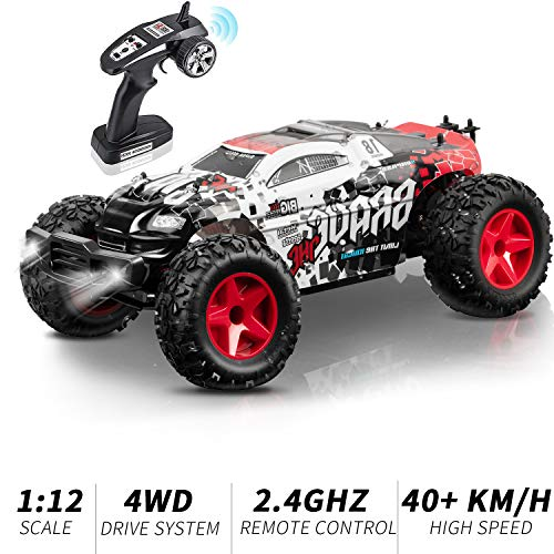 KOOWHEEL RC Auto, Ferngesteuertes Auto 1:12 4WD 2.4Ghz Racing Truck Geländewagen 40km/h High Speed Monster Truck RC Buggy Race , Geschenk(1:12)