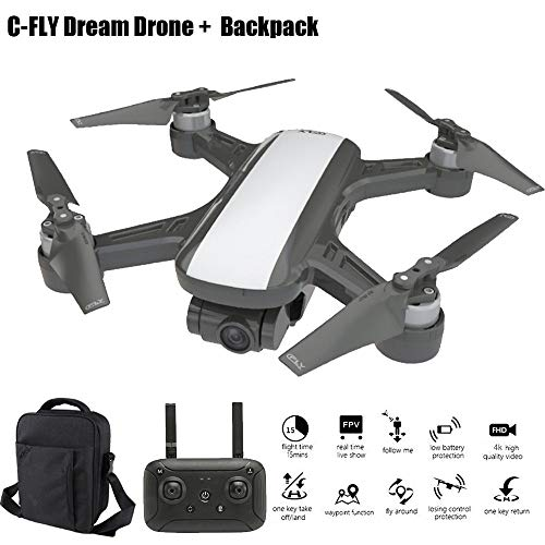 Sixcup C-Fly Dream Drone da 800 metri + 15 minuti di durata della batteria + motore a due assi senza...