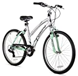 Kent Pomona Women's Dual Suspension Comfort Bike, Mint Green/Silver