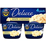 Kraft Deluxe White Cheddar Macaroni & Cheese Easy Microwavable Dinner, 4 ct Pack, 2.39 oz Cups