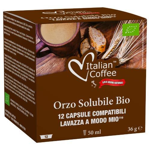 96 Capsule di caffè d'orzo solubile biologico compatibili Lavazza A Modo Mio* Italian Coffee
