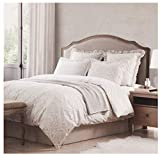 Tahari Home Vintage Damask Ornate Scroll Luxury Duvet Cover 3 Piece Bedding Set Antique Bohemian Paisley Medallion Bedding (Sand Washed, Queen)