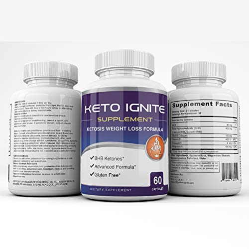 Keto Ignite Supplement - Ketosis Weight Loss Formula - BHB Ketones - 60 Capsules - 30 Day Supply 3
