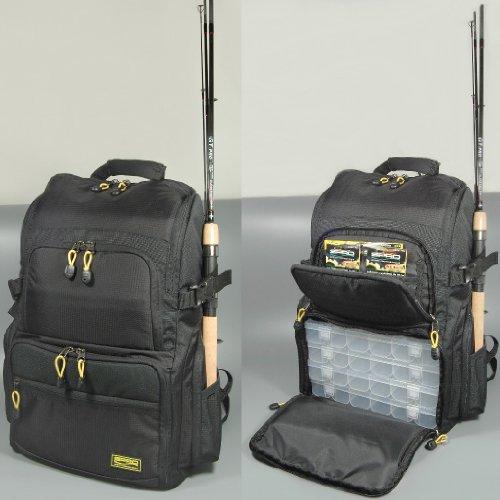 Spro - Zaino da pesca con 4 scatole, per pesca a spinning, borsa per esche artificiali