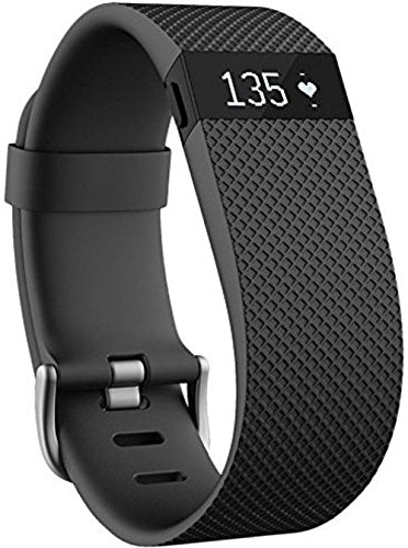 Fitbit Charge HR FB405BKL Activity Tracker with Heart Rate Monitor - Large - Black (Renewed)