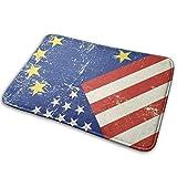 Hangdachang US Flag EU - Felpudo para puerta exterior, multifunción, lavable - Decoración interior para baño, para cocina, 23,6 x 15,7in