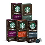 Starbucks by Nespresso, Intense Variety Pack (50-count single serve capsules, 10 of each flavor, compatible with Nespresso Original Line System)