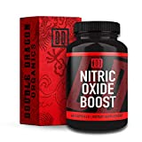 Nitric Oxide Booster Supplement - 1600mg Extra Strength L-Arginine, Citrulline Malate, and Alpha-Ketoglutarate for Muscle Growth, Vascularity & Energy - Double Dragon Organics (60 Caps)