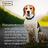 Chewies Fleischstreifen MAXI Hundeleckerli aus 100 % Rindfleisch - 150 g - luftgetrocknete Rinder Kaustreifen für Hunde - zuckerfrei & getreidefrei - Dörrfleisch vom Rind - 3