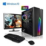 Pack Gaming - Ordenador Gaming PC AMD Ryzen 5 2600  24' ASUS Full-HD  Teclado y ratn Gaming  GeForce GTX1050Ti 4GB  16GB RAM  Windows 10 Home  1000GB HDD  PC Gamer  Ordenador de sobremesa