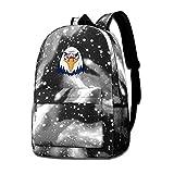 Lawenp Washington Freedom Bird Galaxy Mochilas para Viajes Escolares, Compras de Negocios, Trabajo, Bolsos con Estilo, Mochilas Informales