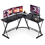Casaottima L Shaped Gaming Desk, 51' Home Office Desk with Round Corner Computer Desk with Large...