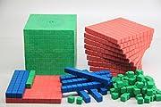 WISSNER R39578.M00 aktiv Lernen-Montessori Dienes Grundsortiment zum Dezimalrechnen 121 Teile-RE-Wood, Mehrfarbig
