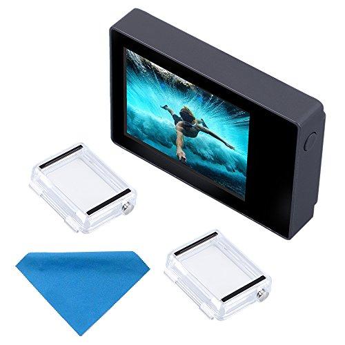 Suptig Schermo LCD 2.0 Pollice LCD BacPac Non-Touch Screen per Gopro Hero 4 Hero 3+Hero 3 Hero 2 con Impermeabile Copertura Posteriore