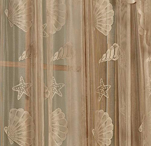 Curtain Stylish, Inc. Seashells Lace Tailor-made Panel