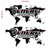 Qwjdsb para Yamaha Adventure Touring TENERE 1200 XT1200Z Super,Pegatina de Motocicleta,Maletas Laterales, Maletas Laterales, Caja de Aluminio para Equipaje