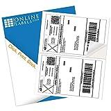 8.5 x 5.5 Shipping Labels - Pack of 200 Labels, 100 Sheets - Inkjet/Laser Printer - Online Labels