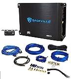 Rockville dB10 800w Peak Mono Car Audio Amplifier 200 Watt RMS + Amp Wire Kit