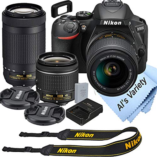 Nikon D5600 DSLR Camera Kit with 18-55mm VR + 70-300mm Zoom...