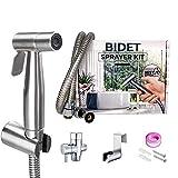Handheld Bidet Toilet Sprayer- Cloth Diaper Sprayer for Toilet, Bidet Stainless Steel, Bidet Sprayer Toilet Kit, Adjustable Water Flow, Toilet Jet Sprayer Bidet, for Personal Hygiene