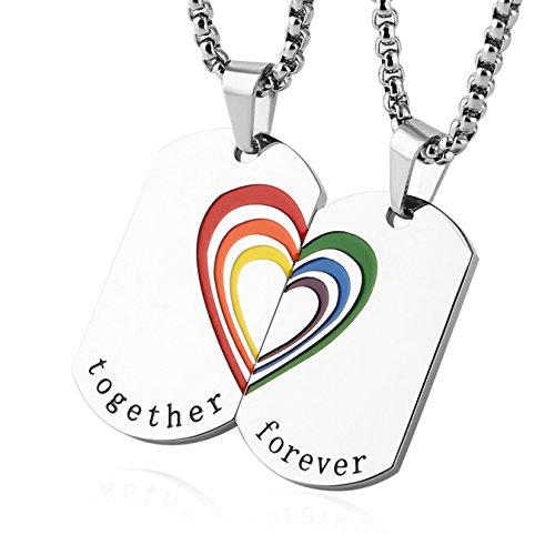 HZMAN Rainbow LGBT Pride Mini Dog Tag Cylindrical Cross...