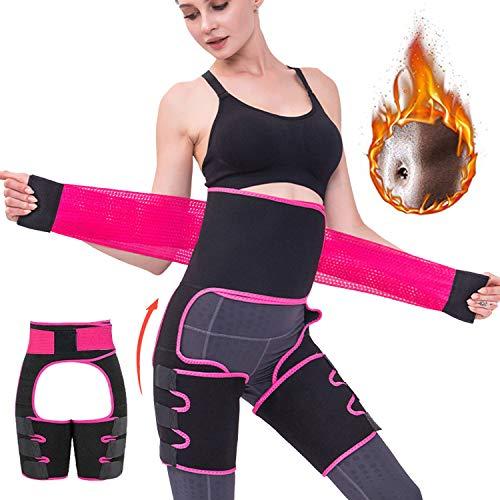 3 in 1 Fascia Addominale Dimagrante Cintura Fascia, Trainer di Vita Shaper per Il Corpo per Migliorare l'anca e la Vita Alta, Dimagrante Body Cintura Coscia Trimmer Shapewear (XXL-XXXL)