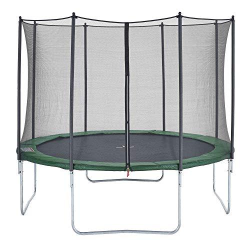 CZON SPORTS Gartentrampolin Ø360 cm mit Sicherheitsnetz, grün|trampolin|trampolin outdoor