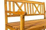 SAM 3-Sitzer Gartenbank Mykonos Holzbank 151 cm, Gartenmöbel für Terrasse & Balkon, Akazie-Holz massiv & geölt, FSC 100% Zertifiziert - 2