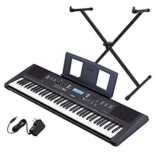 Yamaha PSR-EW310 76-key Portable Keyboard Bundle with Stand and Power Supply