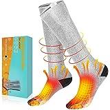 AiBast Chaussettes chauffantes, Chaussettes chauffantes électriques en Coton...