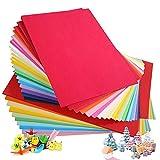 Lot de 100 feuilles de papier coloré A4 230 g/m² 20 couleurs assorties papier...
