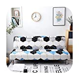 VACHE All Inclusive Folding Sofa Bed Cover Tight Wrap Sofa Towel No Armrests Tight Wrap Sofa Cover for Living Room-9-Pillowcase-2Pcs