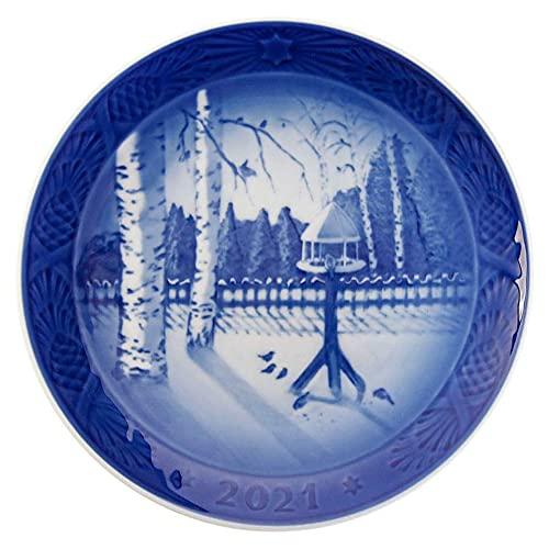 ロイヤルコペンハーゲン イヤープレート クリスマスプレート 2021年 1057622 ブルー ホワイト [並行輸入品]