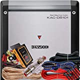 Kenwood KAC-D5101 Class D Mono Amplifier 1000 Watts Max Power 2 Ohms Stable + 4 Gauge Red Kit + Gravity Magnet Phone Holder