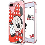 Logee TPU Minnie Mouse Cute Cartoon Clear Case for iPhone 8 Plus/7 Plus 5.5,Fun Kawaii Animal Soft Protective Cover,Ultra-Thin Shockproof Funny Character Cases for Kids Teens Girls Boys(8Plus)