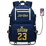 Basketball Player Star Jordan Multifunction Backpack Travel Student Backpack Fans Bookbag (Style 5)