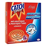 CATCH Spirales Anti-moustiques - Parfum Géranium - 10 Spirales