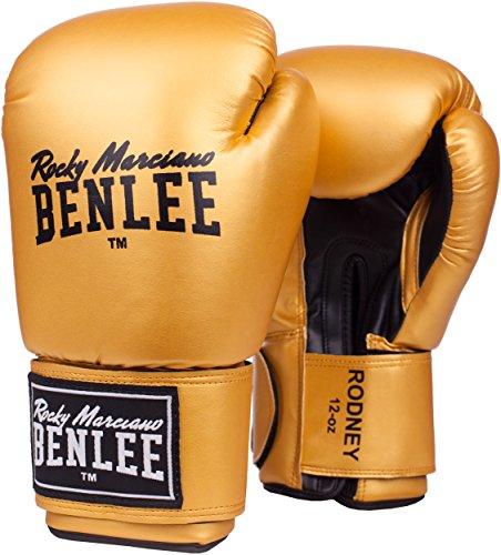 Benlee Rocky Marciano Rodney - Guante de boxeo (PVC), color dorado, talla 14